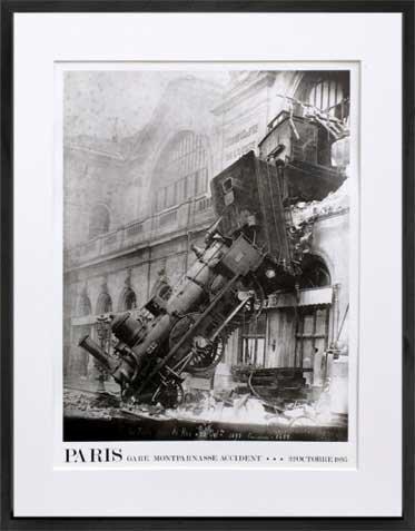 《アートフォトフレーム》フォトグラフィー モンパルナス 鉄道事故