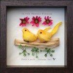 《アートフレーム》鳥の歌声シリーズ 2 イエロー
