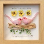 《アートフレーム》鳥の歌声シリーズ 2 ピンク