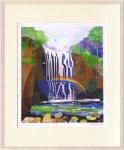 《版画》はりたつお  熊野の滝
