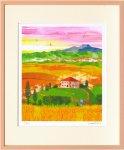 《版画》はりたつお オルチャ渓谷 収穫の秋