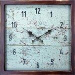 《時計 壁掛け》re-(再生) ライト ブルー