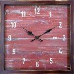 《時計 壁掛け》re-(再生) レッド