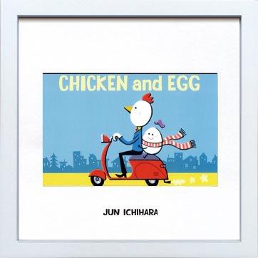 《アートフレーム》【ゆうパケット】市原 淳 Chicken-and-egg チキン&エッグ