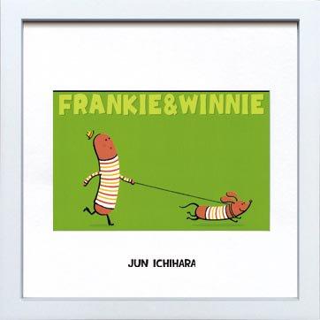 《アートフレーム》【ゆうパケット】市原 淳 Frankie&Winnie フランキー&ウイニー