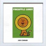 《アートフレーム》【ゆうパケット】市原 淳 Pineapple-Candy パイナップル キャンディ