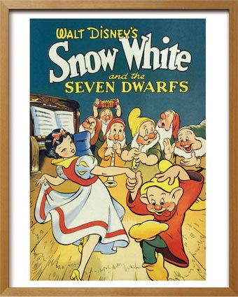 《Disneyポスター》ビンテージ ディズニー シリーズ Snow White 白雪姫