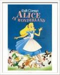 《Disneyポスター》ビンテージ ディズニー シリーズ Alice in Wonderland ふしぎの国のアリス