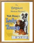 《Disneyポスター》ビンテージ ディズニー シリーズ Lady and the Tramp わんわん物語