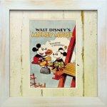 《Disneyフレーム》【ゆうパケット】ビンテージ ディズニー シリーズ Mickey Mouse 2 ミッキーマウス2