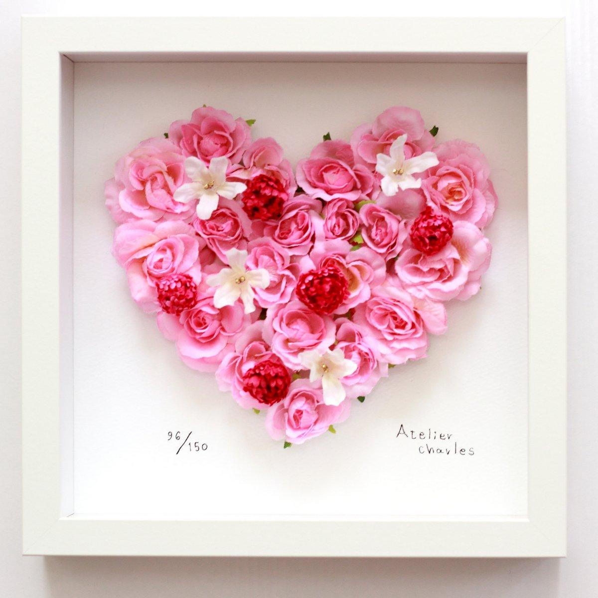《フラワーフレーム》ハートシリーズ Pink Heart 3 ピンク ハート3