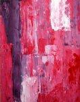 《アートパネル》T30 Galler  ピンク アンド パープル アートペイント