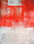 《アートパネル》T30 Galler  オレンジとベージュのアートペイント