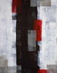 《アートパネル》T30 Galler  赤とグレーのアートペイント