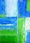 《アートパネル》T30 Galler  青と緑のアートペイント