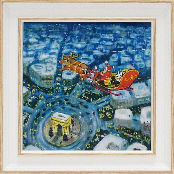 《アートフレーム》リサとガスパール アートフレーム Sサイズ メリークリスマス!