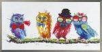 《手描き油絵》オイルペイント アート キュート オウル