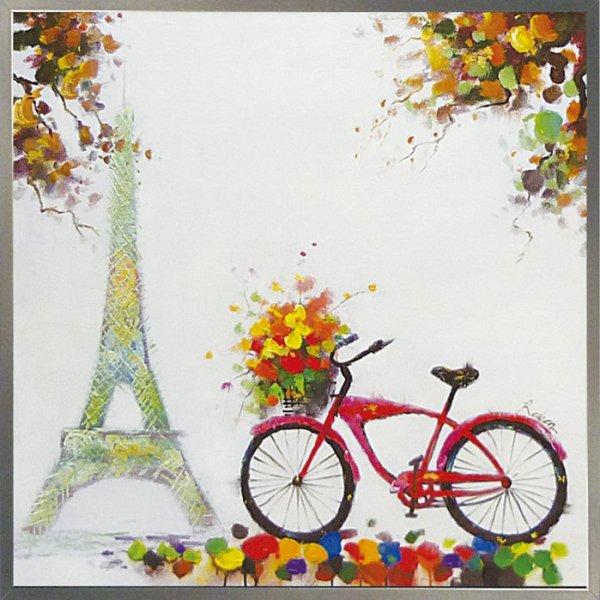 《手描き油絵》オイルペイント アート パリジャン