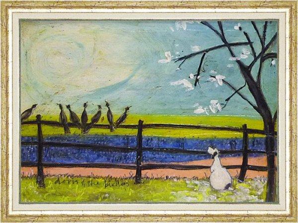 《絵画》サム トフト ドリスと鳥たち
