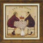 《絵画》サム トフト 3人でお茶