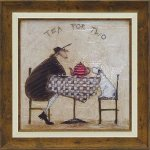 《絵画》サム トフト 2人でお茶