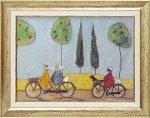 《絵画》サム トフト みんなでサイクリング