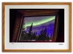 《ジクレー版画》窓からみたオーロラ アラスカ〔オーロラ風景写真家/堀田東〕