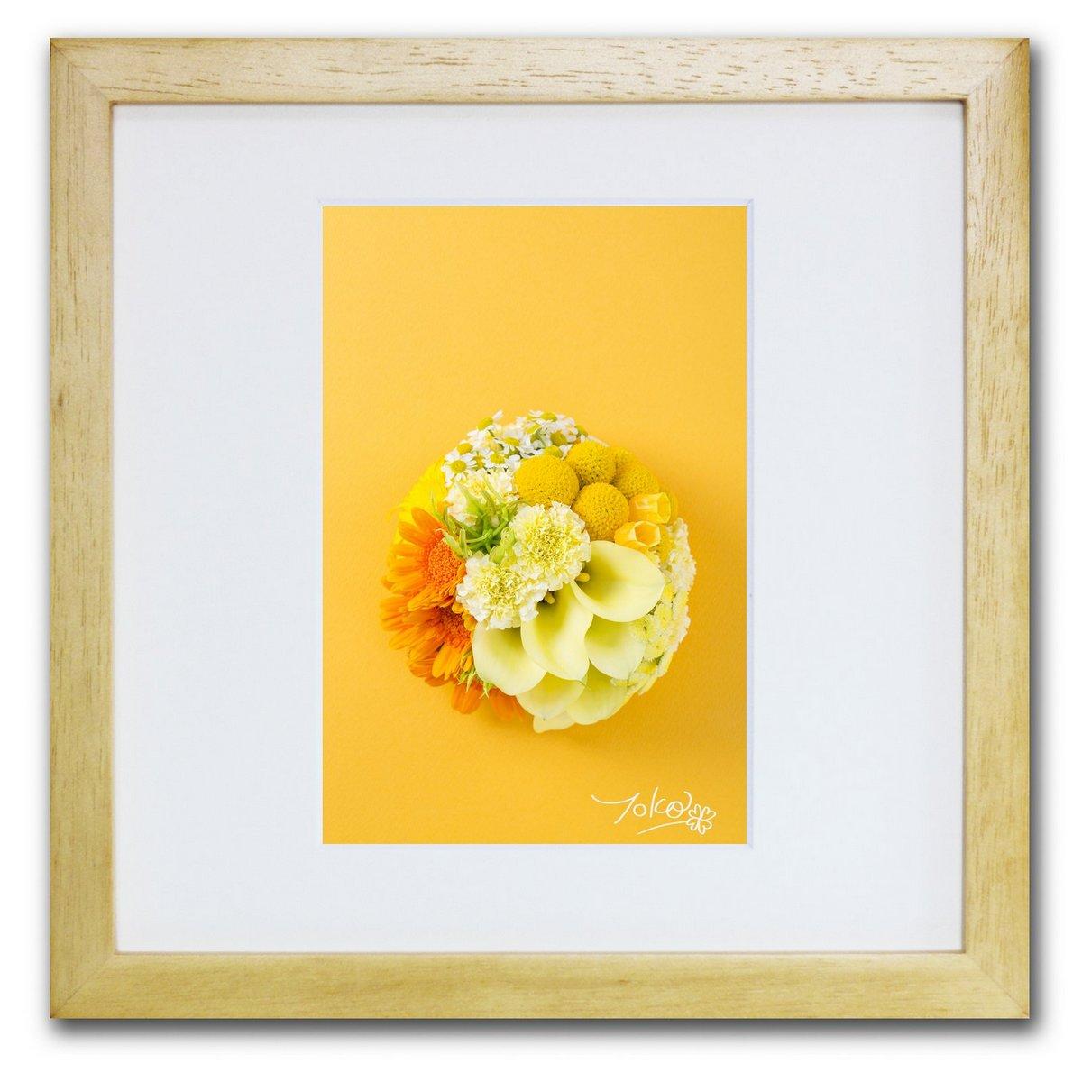 《ジクレー版画》Good fortune_Joy(幸運)〔竹内陽子〕/リビングを華やかに彩るインテリア。絵画のようなフラワーフォト