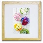 《ジクレー版画》Colorful flower ball(カラフルフラワーボール)〔竹内陽子〕/リビングを華やかに彩るインテリア。絵画のようなフラワーフォト