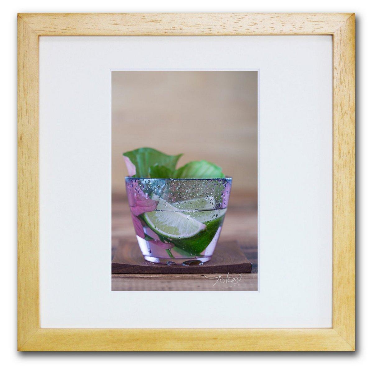 《ジクレー版画》Lime and Green_S(ライム&グリーン_S)〔竹内陽子〕/リビングを華やかに彩るインテリア。絵画のようなフラワーフォト