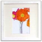 《ジクレー版画》Poppies (ポピー)〔竹内陽子〕/リビングを華やかに彩るインテリア。絵画のようなフラワーフォト