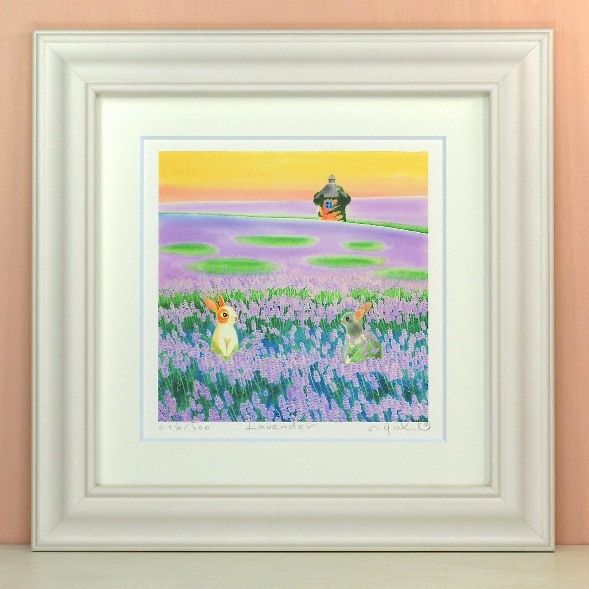 《絵画 水彩画》Lavender〔栗乃木ハルミ くりのきはるみ 〕