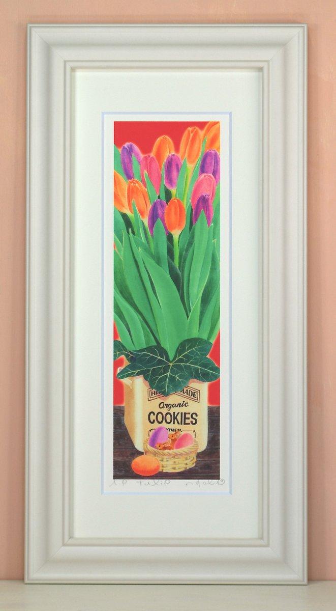 《絵画 水彩画》tulip〔栗乃木ハルミ くりのきはるみ 〕