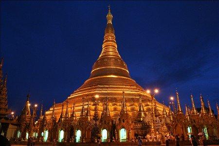 《アートフォト》シュエダゴン・パゴダ(撮影地:ヤンゴン/ミャンマー)(レンタル対象)