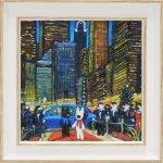 《アートフレーム》【ゆうパケット】リサとガスパール「ニューヨークの夕べ」Sサイズ