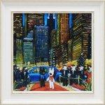 《アートフレーム》リサとガスパール「ニューヨークの夕べ」Mサイズ