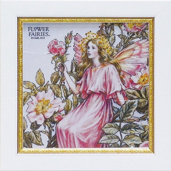 《アートフレーム》【ゆうパケット】フラワー フェアリーズ ミニゲルアート「ワイルドローズフェアリー」