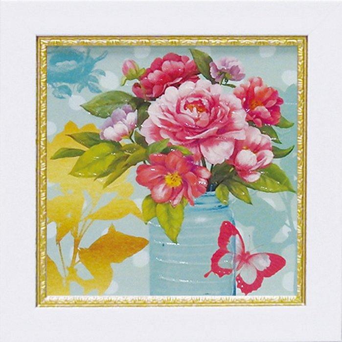 《絵画》【ゆうパケット】ミニゲル アートフレーム アート アトリエ アライアンス「ミント メイソンジャー ブーケ」