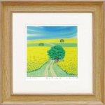 《絵画 壁掛け》くりのき はるみ「菜の花の丘3」