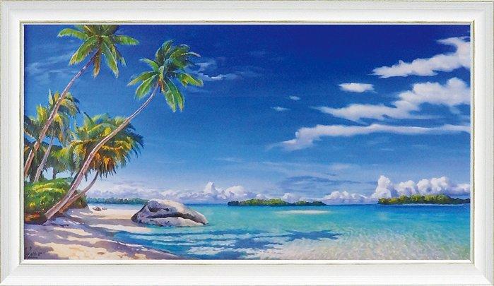 《絵画》アドリアーノ ガラッソー「スピアッジア トロピカル」