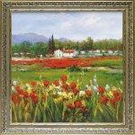 《絵画》ハルシー「レッド フラワー フィールド」