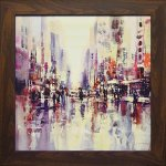 《絵画》ブレント ヘイトン「シティ レイン1」