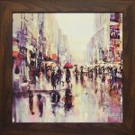 《絵画》ブレント ヘイトン「シティ レイン2」