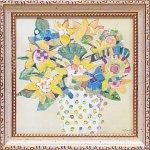 《絵画》【ゆうパケット】ミニゲル アートフレーム M. J. ベスウィック「ボタニカル イエロー」
