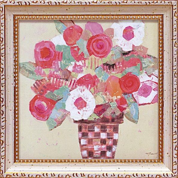 《絵画》【ゆうパケット】ミニゲル アートフレーム M. J. ベスウィック「ボタニカル レッド」