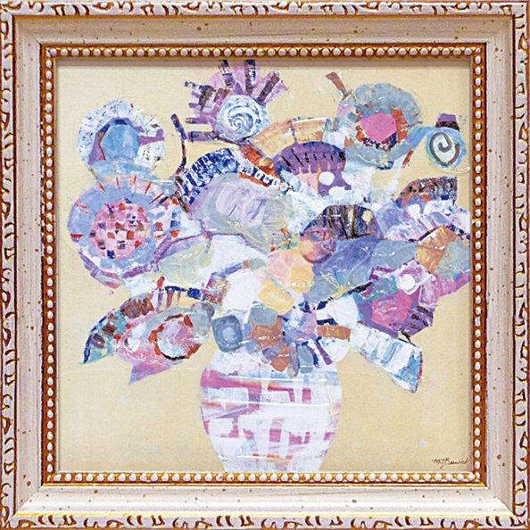 《絵画》【ゆうパケット】ミニゲル アートフレーム M. J. ベスウィック「ボタニカル ブルー」