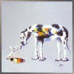 《油絵》オイル ペイント アート「ドッグ ペインティング」