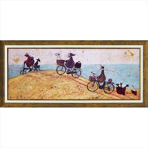 《絵画》サム トフト「エレクトリック バイク ライド」