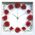 《時計》【ゆうパケット】Flower Clock Rose / Red