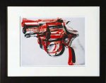《アートフレーム》Andy Warhol   Gun, c. 1981-82 (black and red on white)
